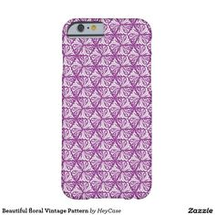 Beautiful floral Vintage Pattern Barely There iPhone 6 Case