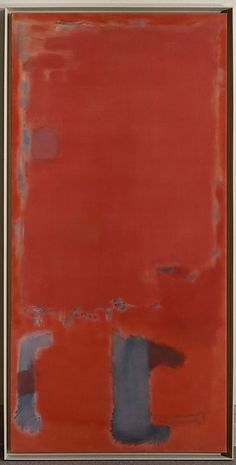 In the pivotal year of 1949, Rothko distanced himself from his Surrealist-inspired work of the 1940s and began to explore pure abstraction by painting soft-focus squares in diaphanous colors.  1949 is also the year that Matisse's 1911 painting The Red Studio, in which the artist's room is subsumed by a brilliant field of solid Venetian red, went on view at the Museum of Modern Art