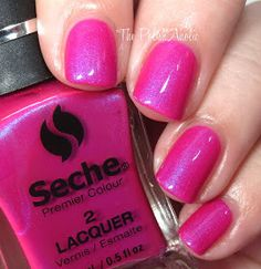 ❤ Intrepid ❤ ... a pink creme nail polish with a flash of blue/violet shimmer from the Seche Premier Colour System
