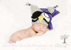 Newborn Adorable Gray Pirate Owl Beanie Cap Hat (Mermaid Set and Crown Sold separately). $30.00, via Etsy.