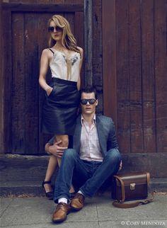 Model Jason Shatto of Vander Models and High Models Management with Jessica Jones