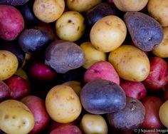 Colorful Potatoes. Healthy and tasteful.