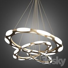Luxury modern chandelier led circle ring