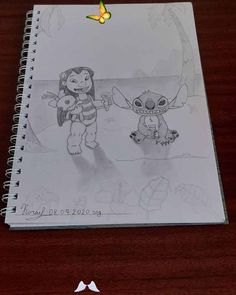 """Drawing from the imagination """"Lilo and Stitch""""<br>"""