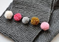 Add a bit of fun to plain garter stitch.