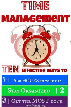 """Time Management by Kristella Manscell - """"1) If you're going to waste time, do it at the end of the day rather than the beginning. 2) If you have to do it again, create a routine. 3) Have daily planning sheets and fill them out the night before... """" ADD freeSources: http://pinterest.com/addfreesources/"""