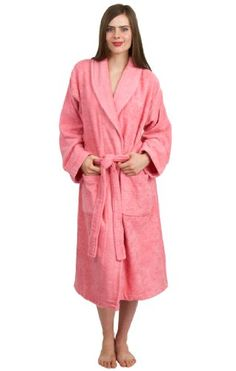a7a80036ee TowelSelections Turkish Cotton Terry Shawl Robe for Women and Men Made in  Turkey Buy Now Iris Collection terry cloth shawl collar robes are made of  ...