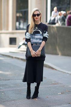 Joanna Hillman in Givenchy   - HarpersBAZAAR.com