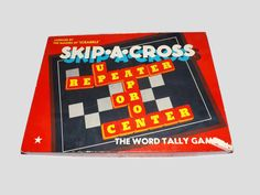 Vintage 1953 Skip A Cross Game, Board Game, Complete, Makers Of Scrabble, Word Game, Spelling, Multi Player by JandDsAtticTreasures on Etsy