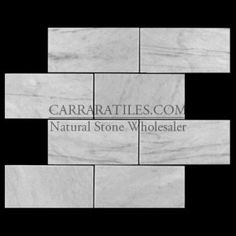 Carrara Marble Italian White Bianco Carrera 6x12 Marble Subway Tile Honed