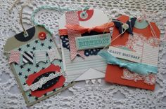 Handmade Birthday Tags Male or Female Child or Adult by rettajane, $3.95