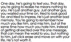 Something every girl needs to remember about a dumb ex