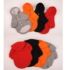 Namsan Autumn and Winter Cotton Warm Casual Coats with Hoodie for Puppy Doggie Dog Clothes - Orange -Extra Small: Amazon.co.uk: Pet Supplies