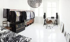 open space hanging wardrobe