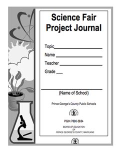 Here's a science fair project journal for students.