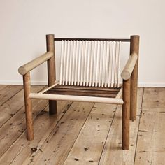 Max Lamb created a series of furniture made entirely from standard wooden dowels.