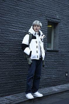 ストリートスナップ原宿 - Ryutaroさん - ACNE STUDIOS, K-SWISS, THE NORTH FACE, used, アクネ ストゥディオズ, ケースイス, ザノースフェイス, 古着