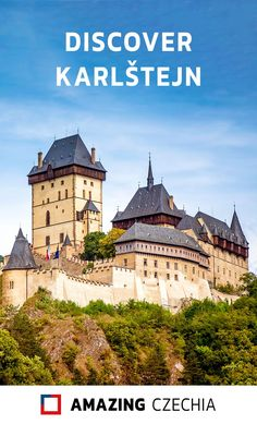 Karlštejn Castle (hrad Karlštejn) is a large medieval castle located in the town of the same name  near the capital city Prague. Karlštejn Castle is very popular among  tourists and it is a perfect place for a day trip when you're staying in  Prague. #karlštejn #castle #czechia #bohemia #karlstejn #europe #czechrepublic #czech #gothic Europe Travel Tips, European Travel, Places To Travel, Travel Destinations, Places To Visit, Republic Pictures, Medieval Castle, Capital City, Great View