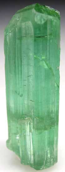Bright Pastel-green Tourmaline crystal from Pech in Kunar Province, Afghanistan