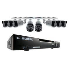 Lorex sistema de seguridad 8 canales 8 cámaras 1080p