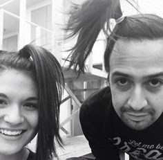Oh my gosh, Lin and Phillipa with matching ponytails. XD The Hamilton cast is the best. XD