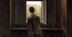 Femme à la fenêtre. Friedrich, 1822.   INSPIRATION   Pinterest   Caspar David Friedrich, David and Window