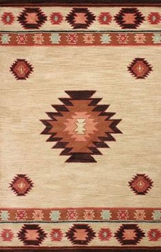 Rugs USA Savanna Southwestern VE04 Beige Rug. South West, aztec, style, pattern, modern, area rugs, home decor, interior design, style, interior design.