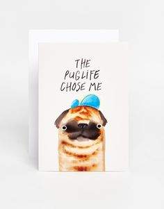 Jolly Awesome Puglife Card