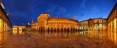 Syria, Damascus, old city center, the Great Umayyad Mosque, March 2011 Umayyad Mosque, Jama Masjid, City Lights At Night, Night City, Islamic Architecture, Architecture Design, Medina Mosque, Place Of Worship, Old City
