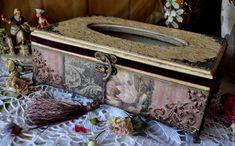 """Винтажный дворик"" Амелина Лена (EAmeli) ""Старинный сад"" шкатулка-салфетница"