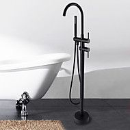 Antique+Floor++Mounted+Ceramic+Valve+Oil-rubbed+Bronze+Floor+Standing+++Bathtub+Faucet+–+CAD+$+427.07