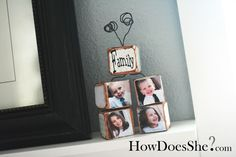 Such a cute idea for a grandparent gift with all the grandchildren's pictures!