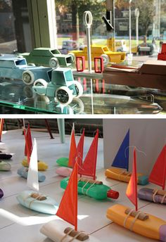 cute boats made from plastic bottles