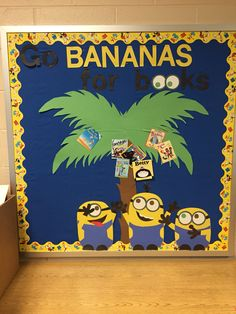 Bulletin board for the library. Minions