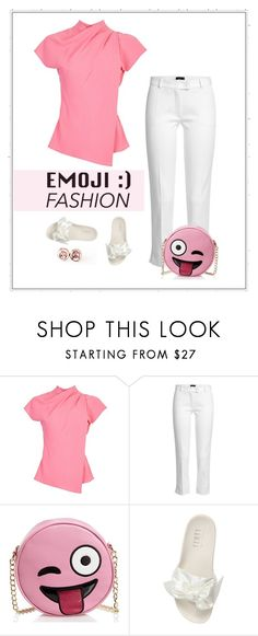 """""""; ) Emoji"""" by patricia-dimmick on Polyvore featuring Topshop, Joseph, Olivia Miller, Puma and emogifashion"""