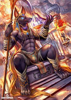 FN - Artwork - Weighing of the Heart Egyptian Mythology, Egyptian Goddess, Egyptian Art, Foto Fantasy, Dark Fantasy Art, Ancient Egypt Art, Ancient History, European History, Ancient Aliens