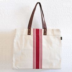Stripe Red Carryall Tote – Maika