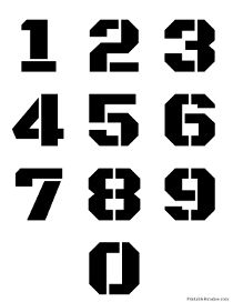 Printable Number Stencils - Free Stencils for Numbers Number Tattoo Fonts, Number Tattoos, Number Fonts, Cursive Numbers, Graffiti Lettering Fonts, Typography Fonts, Lettering Design, Logo Design, Number Stencils