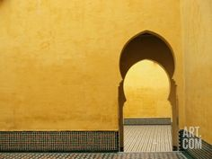 Doorway at Mausoleum of Moulay Ismail par Paul Souders