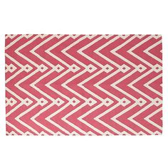 8 x 10' Chevron Twist Rug (Pink) | The Land of Nod