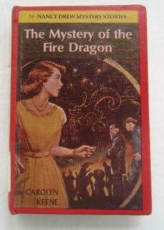 Nancy Drew #38 MYSTERY OF THE FIRE DRAGON Carolyn Keene Library Binding Nancy Drew Mystery Stories, Nancy Drew Mysteries, Vintage Library, Fire Dragon, Draw, Books, Astrid Lindgren, Libros, To Draw