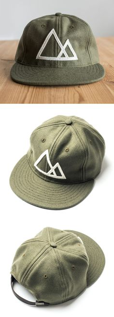 a32a45aa1 Mountains Hat (Olive) Vintage style baseball cap featuring the Ugmonk  Mountains design. Each
