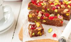 Chocolate, Cherry and Pistachio Fudge Fun Desserts, Delicious Desserts, Dessert Recipes, Chocolate Cherry, Some Recipe, Love Cake, Candy Recipes, Other Recipes, Fudge