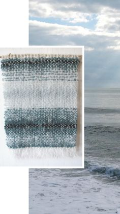 I love this sweet, feminine woven wall hanging in a pretty cyan and ivory palette, perfect for adding a touch of bohemian charm to a room. The hand woven tapestry reminds me the blue sea and beautiful white beaches. I used high quality mohair mixed of wool and alpaca. The wool was made in Peru.