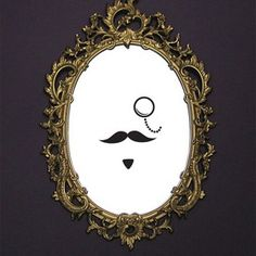 Moustache Mirror - Set of 3$33.95