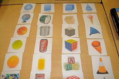 Free real world geometric shapes for sorting!! Free is awesome!