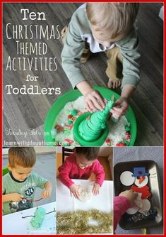 Learn with Play at home: 10 Christmas Activities for Toddlers.