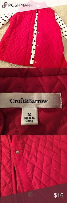 Red Croft & Barrow vest. Size M. EUC. Red Croft & Barrow vest. Size M. EUC. croft & barrow Jackets & Coats Vests