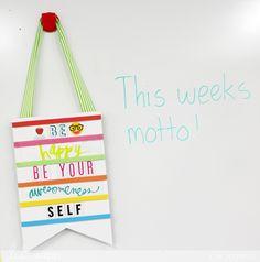 Heidi Swapp DIY Banner in my classroom with Dr. Seuss @heidiswapp