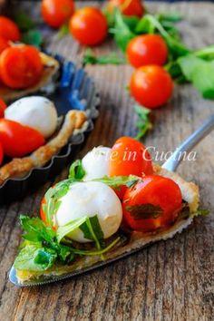 Crostata caprese con melanzane con pasta sfoglia vickyart arte in cucina